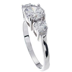 Sterling Silver CZ Engagement Ring That Looks Real