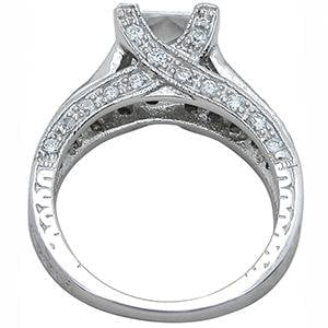 2 Carat Princess Cut Cubic Zirconia CZ Engagement Ring Sterling Silver