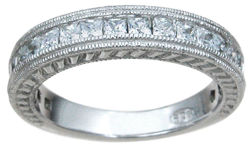 CZ 925 Sterling Silver Wedding Band Ring - LaRaso & Co - 1