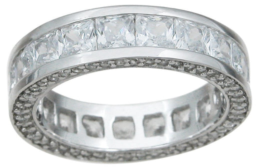CZ Silver Princess Eternity Ring - LaRaso & Co - 1