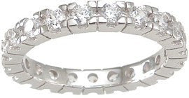 LaRaso & Co Sterling Silver Eternity Wedding Band - LaRaso & Co - 1