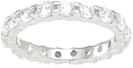 CZ Sterling Silver Eternity Ring - LaRaso & Co - 1