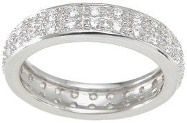 Cubic Zirconia 925 Sterling Silver Eternity Ring - LaRaso & Co - 1