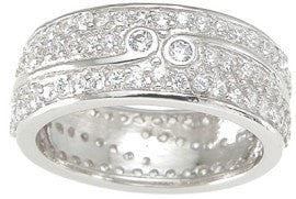 Cubic Zirconia CZ Wedding Band - LaRaso & Co - 1