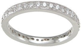 Cubic Zirconia Eternity Wedding Band Ring - LaRaso & Co - 1