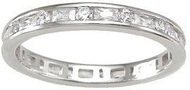 925 Sterling Silver Wedding Band Eternity Ring - LaRaso & Co - 1