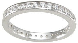 Sterling Silver Eternity Ring Wedding Band for Women - LaRaso & Co - 1