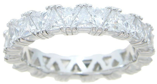 CZ Wedding Band For Women Trillion Cut CZ's - LaRaso & Co - 1
