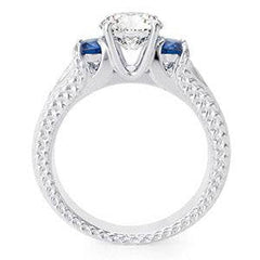 Simulated Sapphire CZ Engagement ring