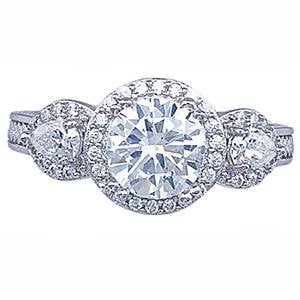 Stunning Vintage CZ Engagement Ring