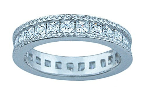 LaRaso & Co silver Sterling Couture eternity bridal band - LaRaso & Co - 1