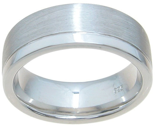 High Quality Mens Sterling Silver Wedding Band Ring