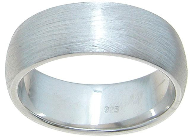 High Quality Sterling Silver Wedding Band for Him