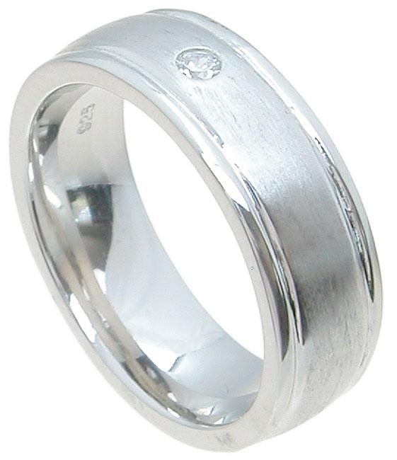 Mens Sterling Silver Wedding Band Rings