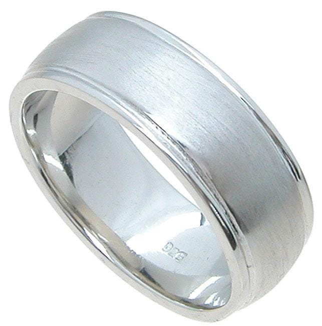 Quality Mens Sterling Silver Wedding Band Rings