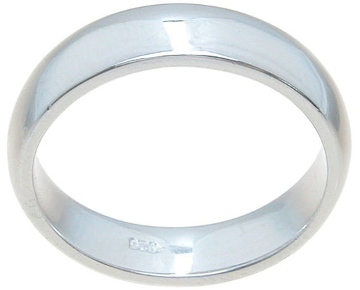 Men's Sterling Silver Wedding Band Looks Real Not Cheap