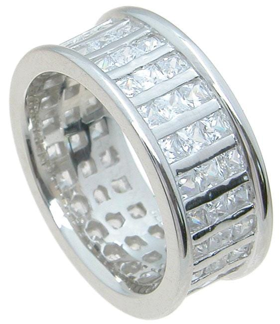 Mens Ring Sterling Silver Wedding Band Fashion Ring