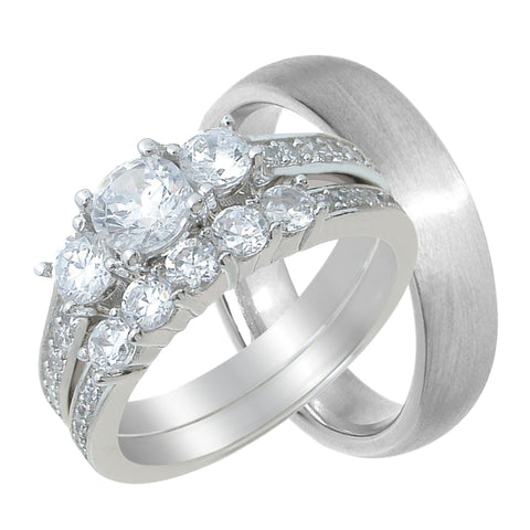 matching his and hers wedding ring set cheap - Cheap Wedding Ring