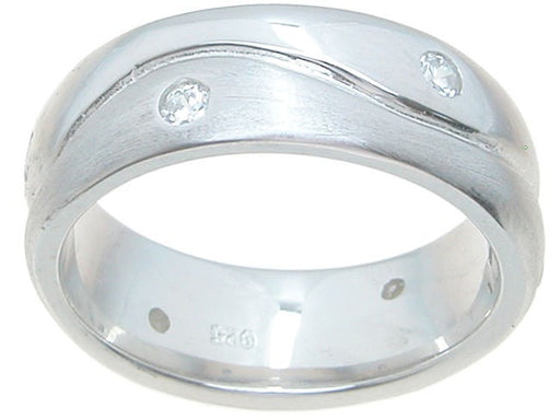 Men's Sterling Silver Wedding Ring - LaRaso & Co - 1
