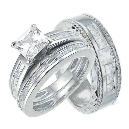 Sterling Silver His and Her Wedding Bands Hers is a Classic Style