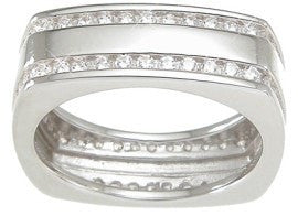 Mens Sterling Silver Wedding Band - LaRaso & Co - 1