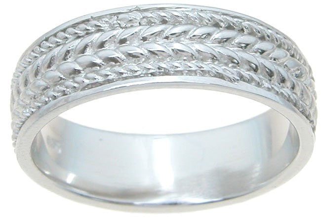 925 Sterling Silver mens wedding band - LaRaso & Co - 1