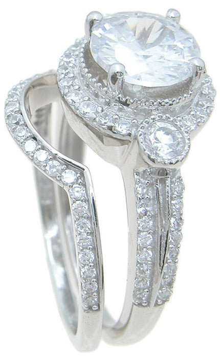 Vintage Cubic Zirconia Wedding Engagement Rings