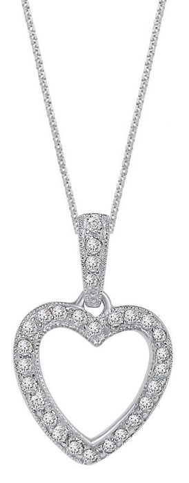 Silver Heart Pendant Necklace for Women
