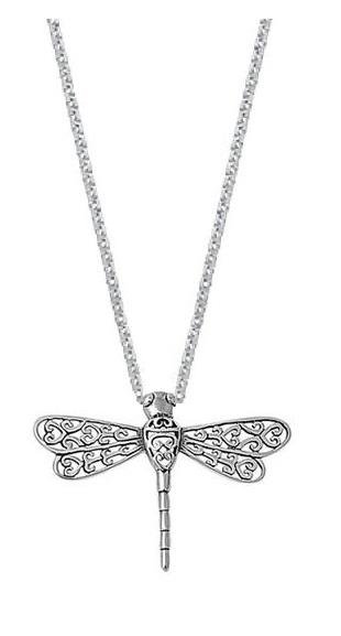 Sterling Silver Dragonfly Pendant Necklace (18 Inch)