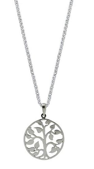 Sterling Silver Large Tree of Life Pendant Womens Jewelry Necklace (18 Inch)