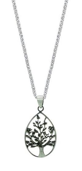 Sterling Silver Tree of Life Pendant Womens Jewelry Necklace (18 Inch)