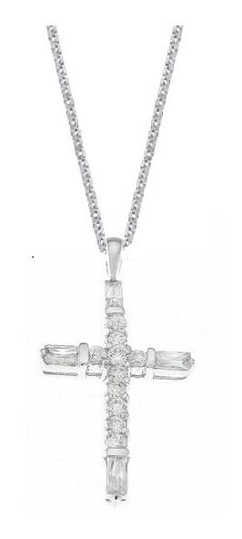 Sterling Silver Fashion Cross Pendant Necklace for Women
