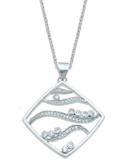 Sterling Silver Letter Z Pendant Necklace for Women