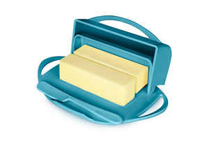 Turquoise Butter Dish Holds 2 sticks