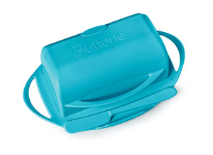 Turquoise Butter Dish with Knife