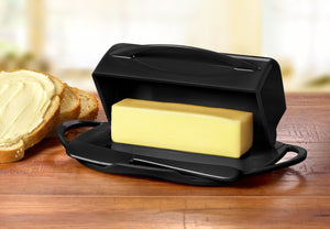 Large Black Butter Dish