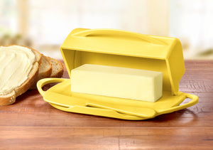 Large Yellow Butter Dish