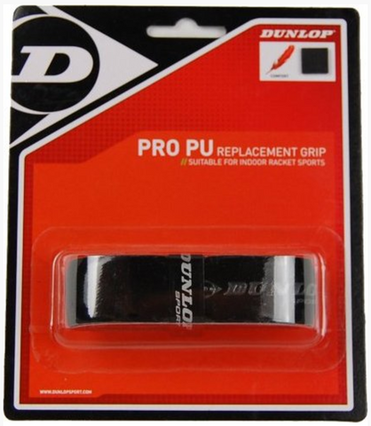 Dunlop Pro PU Replacement Grip 12 pack - Black