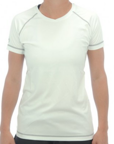 Harrow Interlock T-shirt White/Charcoal Womens Tees - Hutkay.fit