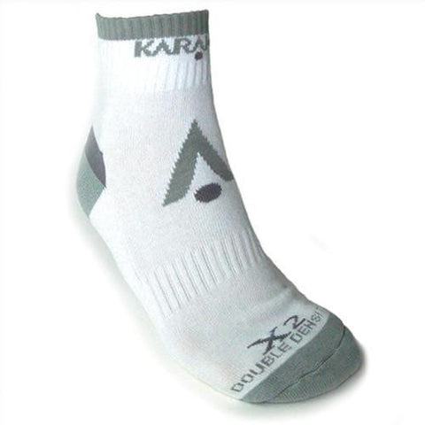 Karakal X2-Technical Ankle Sock in white-grey