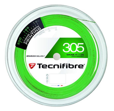 Tecnifibre 305 Green squash strings 17 gauge 200m reel - Hutkay.fit