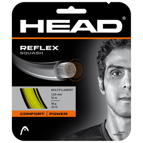 HEAD Head Reflex Squash String, Yellow, SET Strings - Hutkay.fit