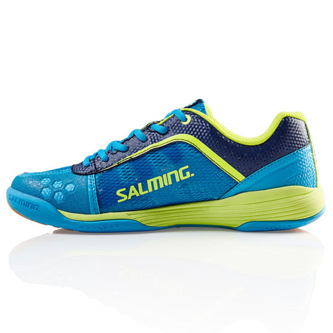 Salming Adder Men squash shoes cyan safety Yellow - Hutkay.fit