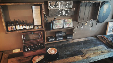 Corner Alchemy Apothecary now featured in the Ritual Shop at Black Forge Coffee House