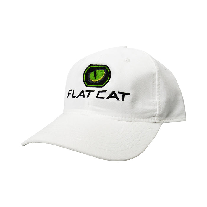 FLAT CAT Golf Hat in White