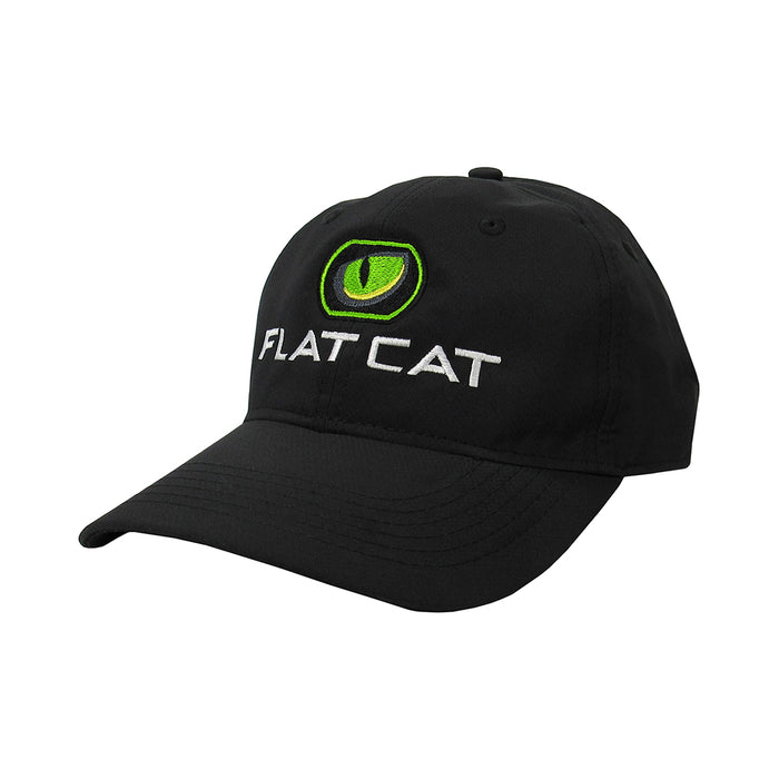 FLAT CAT Golf Hat in Black