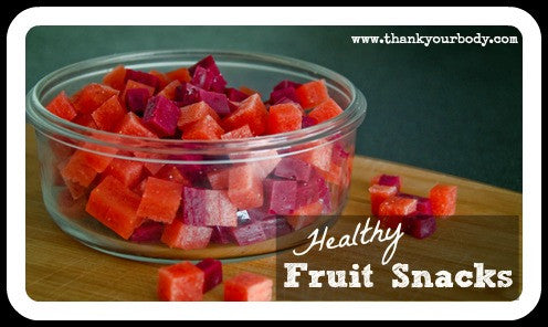 Healthy, Homemade Fruit Snacks!!!
