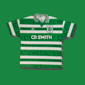 Vintage Celtic football shirts