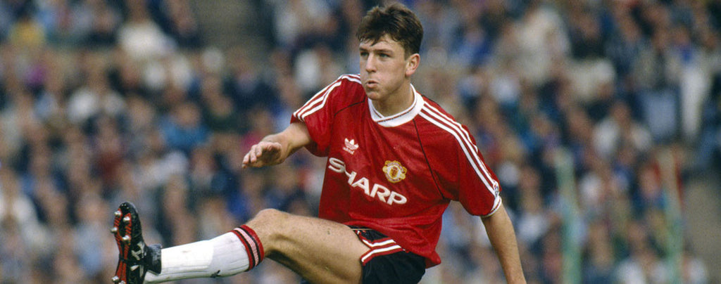 Lee Sharpe in 1988 Manchester United shirt