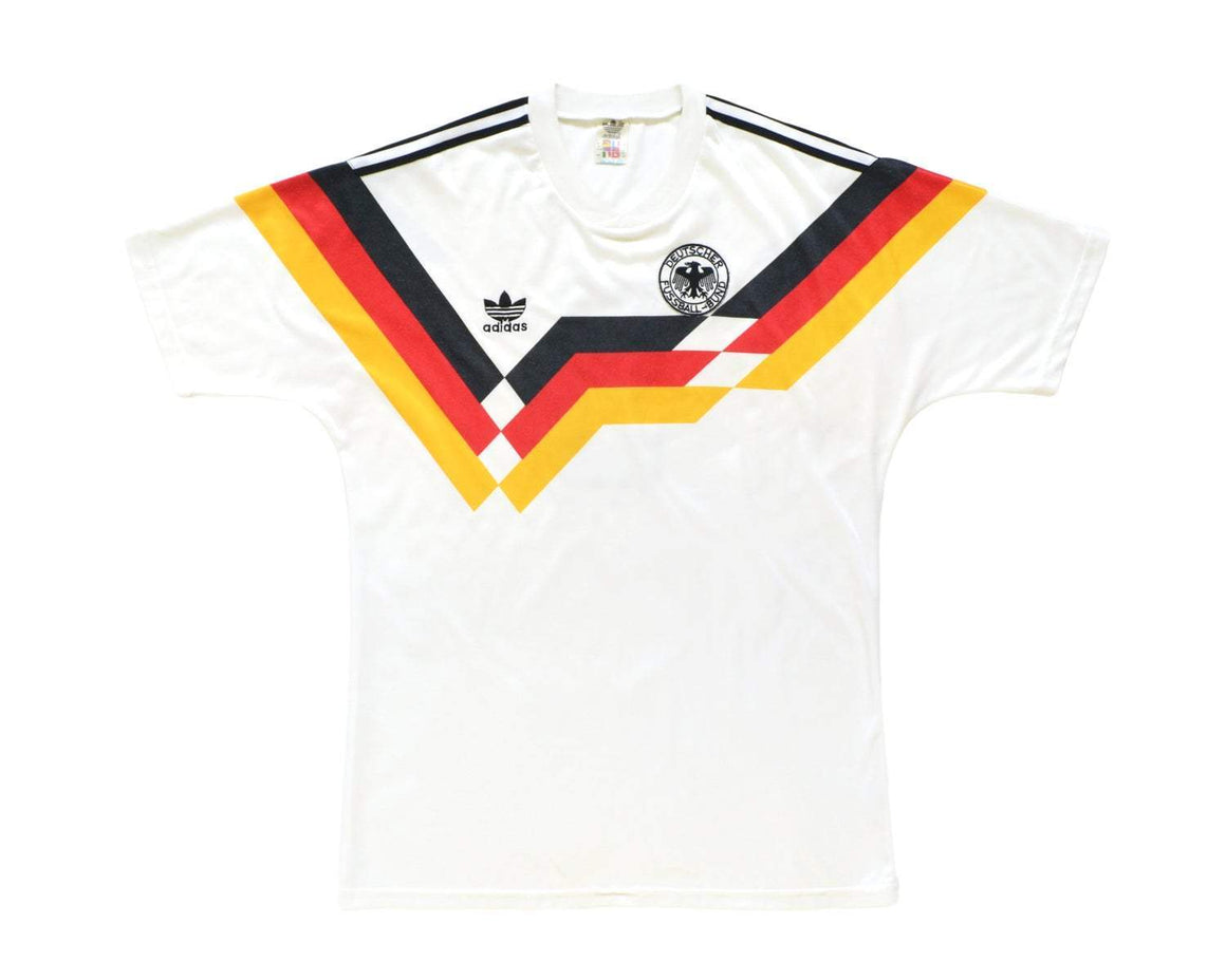 1988-90 Adidas West Germany Home Shirt L 'Rudi Völler 9' - Football Shirt Collective